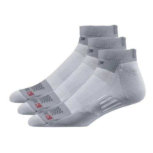 Road Runner Sports Drymax Dry-As-A-Bone Medium Cushion Low 3 pack Socks - Grey S