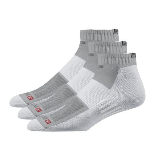 Road Runner Sports Drymax Dry-As-A-Bone Thin Cushion Quarter 3 pack Socks - Grey M
