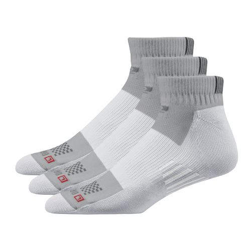 Road Runner Sports Drymax Dry-As-A-Bone Medium Cushion Quarter 3 pack Socks - Grey M
