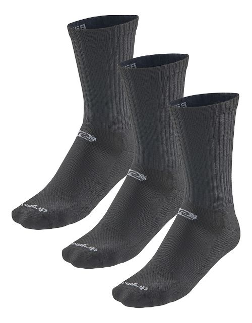 Road Runner Sports Drymax Dry-As-A-Bone Thin Cushion Crew 3 pack Socks - Black M