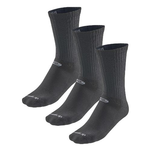 Road Runner Sports Drymax Dry-As-A-Bone Thin Cushion Crew 3 pack Socks - Black S