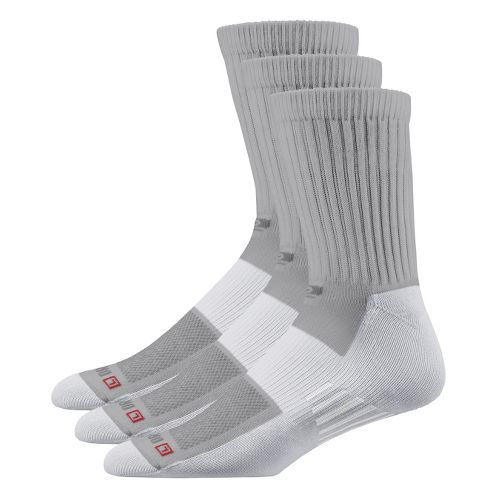 Road Runner Sports Drymax Dry-As-A-Bone Thin Cushion Crew 3 pack Socks - Grey XL