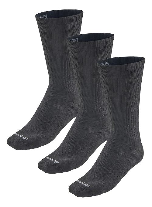 Road Runner Sports Drymax Dry-As-A-Bone Medium Cushion Crew 3 pack Socks - Black M
