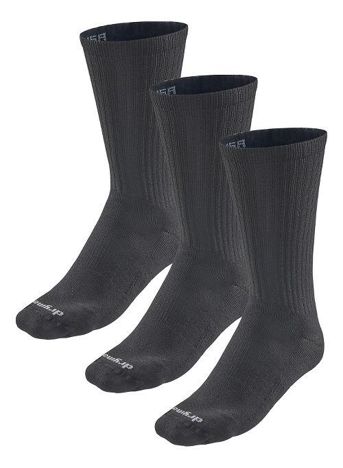 Road Runner Sports Drymax Dry-As-A-Bone Medium Cushion Crew 3 pack Socks - Black XL