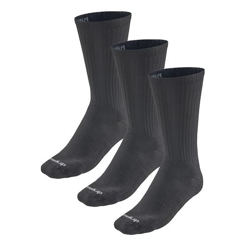 Road Runner Sports Drymax Dry-As-A-Bone Medium Cushion Crew 3 pack Socks - Black XL