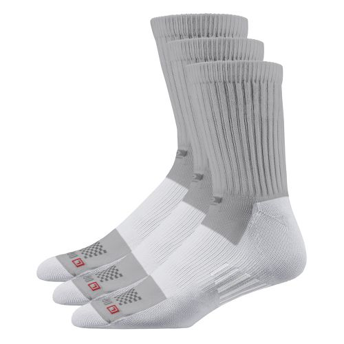 Road Runner Sports Drymax Dry-As-A-Bone Medium Cushion Crew 3 pack Socks - Grey L