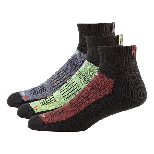 R-Gear Drymax Off-Road Trail Medium Cushion Quarter 3 pack Socks - Black/Assorted M
