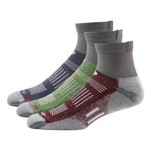R-Gear Drymax Off-Road Trail Medium Cushion Quarter 3 pack Socks - Grey/Assorted M