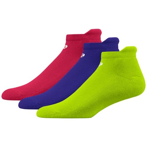Womens R-Gear Dryroad Flash Dance Medium Cushion No Show Tab 3 pack Socks - Bright ...
