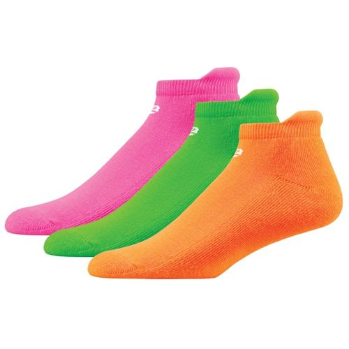 Womens R-Gear Dryroad Flash Dance Medium Cushion No Show Tab 3 pack Socks - Pink/Lime/Orange ...