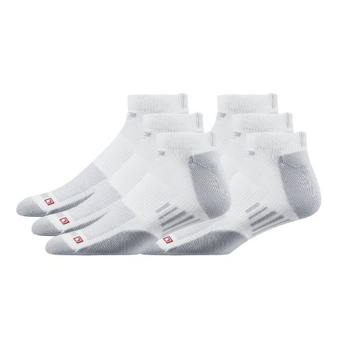 Road Runner Sports Drymax Dry-As-A-Bone Thin Cushion Low Cut 6 pack Socks - White L ...