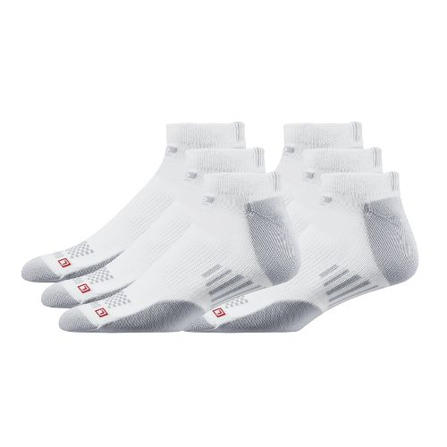 Road Runner Sports Drymax Dry-As-A-Bone Medium Low 6 pack Socks - White S