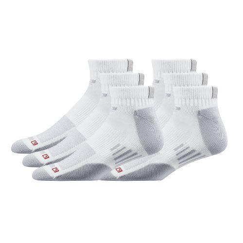 Road Runner Sports Drymax Dry-As-A-Bone Thin Cushion Quarter 6 pack Socks - White M