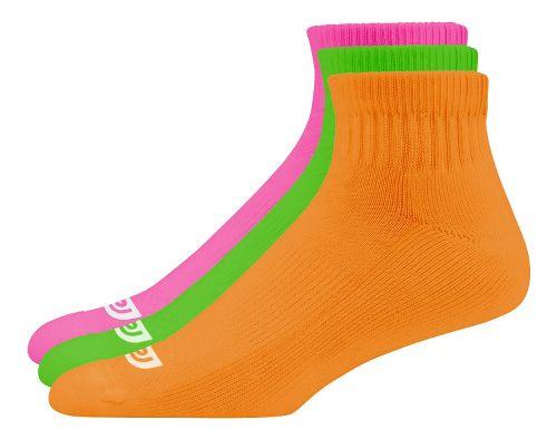 R-Gear Kids Dryroad QuickWick Medium Cushion Low Cut 3 pack Socks - Neon