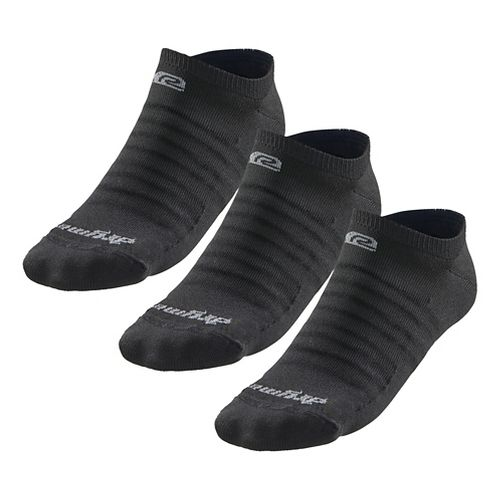 R-Gear Drymax Light & Quick Thinnest No Show 3 pack Socks - Black M