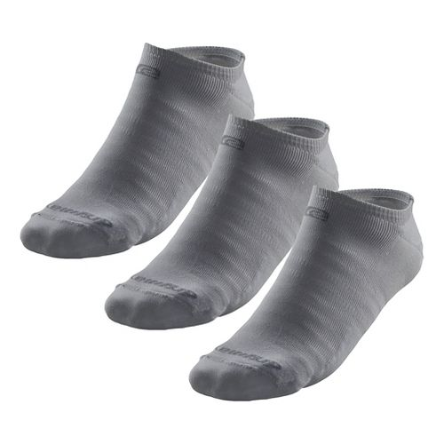 Road Runner Sports Drymax Light & Quick Thinnest No Show 3 pack Socks - Grey S