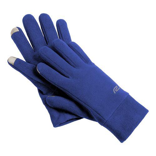 Road Runner Sports Blizzard Blocker Fleece Gloves Handwear - Twilight Blue S/M