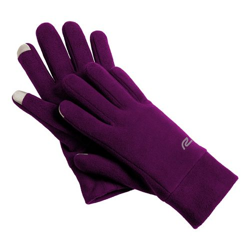 Road Runner Sports Blizzard Blocker Fleece Gloves Handwear - Mulberry Madness S/M