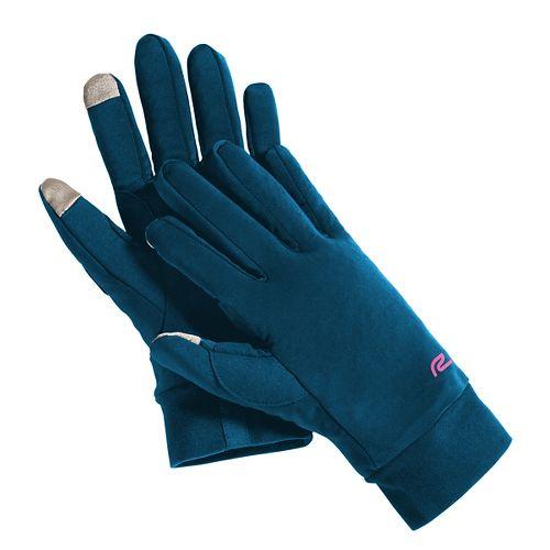 Road Runner Sports Race Ready Touch-Tip Gloves Handwear - Peacock Blue L/XL