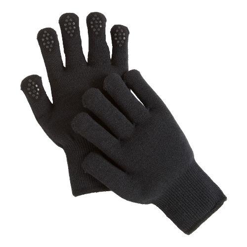 Road Runner Sports Get A Grip Knit Gloves Handwear - Black L/XL