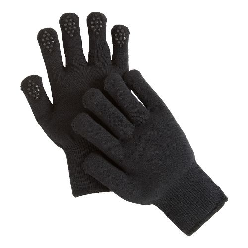 Road Runner Sports Get A Grip Knit Gloves Handwear - Black S/M