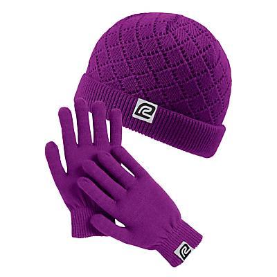 Womens Road Runner Sports Cute N Cozy Hat & Glove Set Headwear