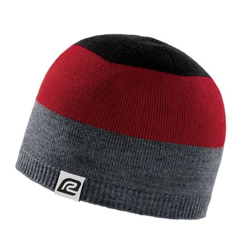 Road Runner Sports Tri More Color Beanie Headwear - Heather/Hotrod Red/Black