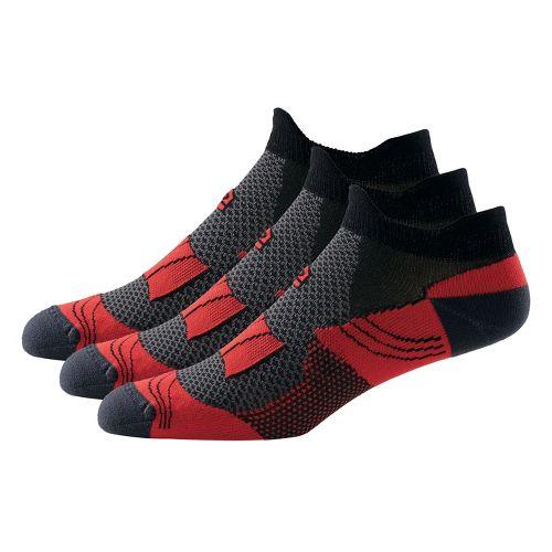R-Gear Dryroad Simple & Speedy Thin Double Tab 3 pack Socks - Hotrod Red/Black XL ...