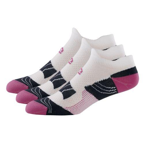 R-Gear Dryroad Simple & Speedy Thin Double Tab 3 pack Socks - Purple Shock/Charcoal S ...