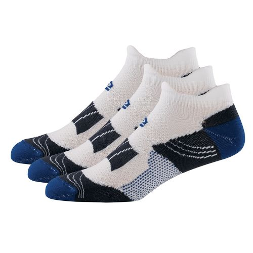 R-Gear Dryroad Simple & Speedy Thin Double Tab 3 pack Socks - Royal/Gunmetal L