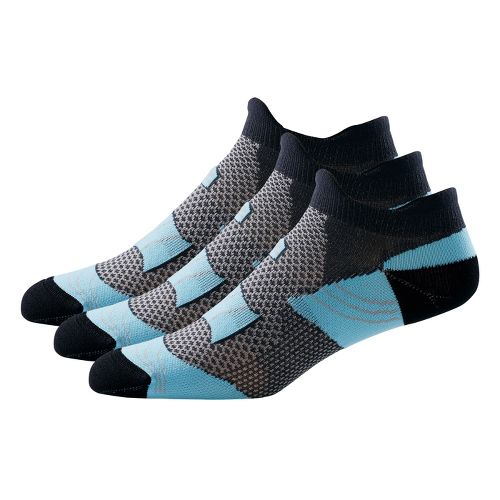R-Gear Dryroad Simple & Speedy Thin Double Tab 3 pack Socks - Sea Glass Blue/Charcoal ...