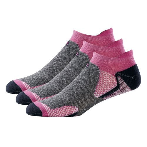 R-Gear Dryroad Simple & Speedy Thin No Show Tab 3 pack Socks - Purple Shock/Charcoal ...