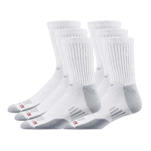 R GEAR Drymax Dry-As-A-Bone Medium Cushion Crew 6 pack Socks - White L