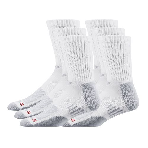 R-GEAR Drymax Dry-As-A-Bone Thin Cushion Crew 6 pack Socks - White L