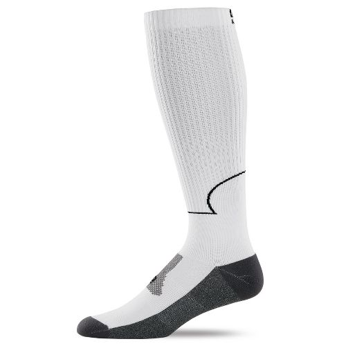 Road Runner Sports Go Stronger, Longer Compression Socks - White L