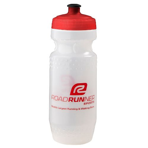 Road Runner Sports Water Bottle 20 ounce Hydration - Red Black