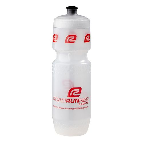 Road Runner Sports Water Bottle 28 ounce Hydration - Clear Black