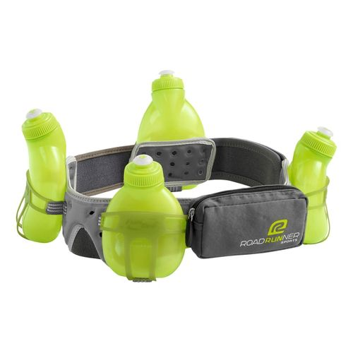 R-Gear Go The Distance 4-bottle Belt 34 ounces Hydration - Grey S