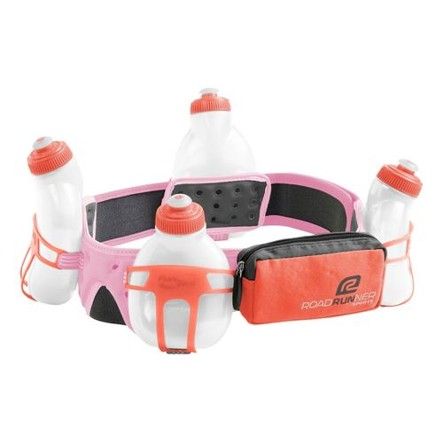 R-Gear Go The Distance 4-bottle Belt 34 ounces Hydration - Tickled Pink S