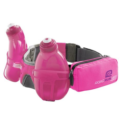 R-Gear Double Take 2-bottle Belt Hydration - Pink Berry