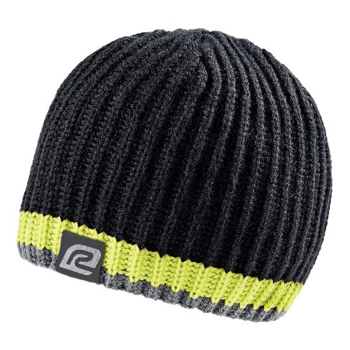 Mens R-Gear Bold Striped Beanie Headwear - Black/Electrolyte