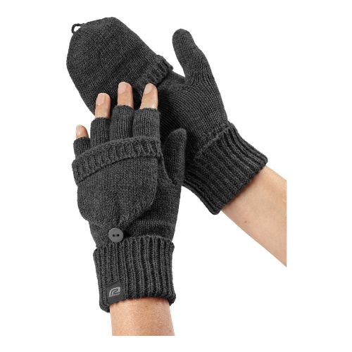 Womens R-Gear Knit What It Seems Convertible Mittens Handwear - Heather Charcoal L/XL