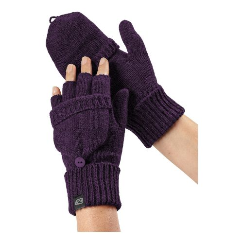 Womens R-Gear Knit What It Seems Convertible Mittens Handwear - Heather Plum Pop L/XL