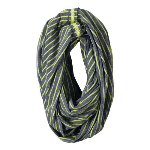 Womens ROAD RUNNER SPORTS Between The Lines Scarf Headwear - Heather Charcoal/Lemon Lime