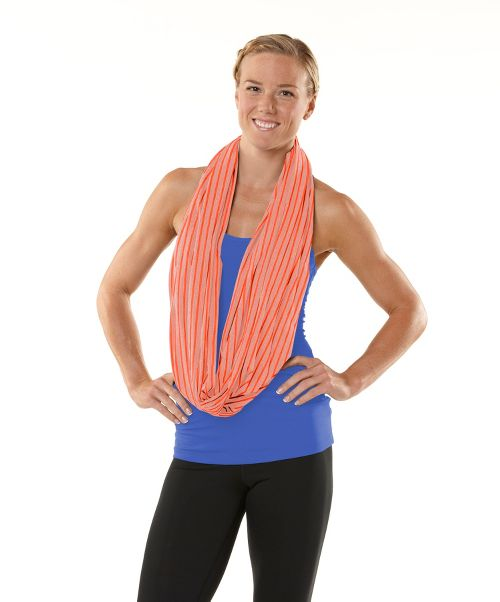 Womens ROAD RUNNER SPORTS Between The Lines Scarf Headwear - Just Peachy/Tickled Pink