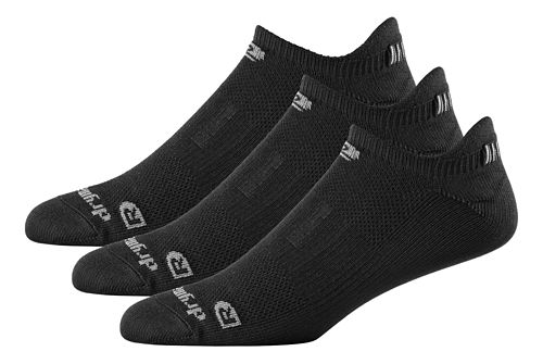R-Gear Drymax Dry-As-A-Bone Thin No Show Tab 3 pack Socks - Black M