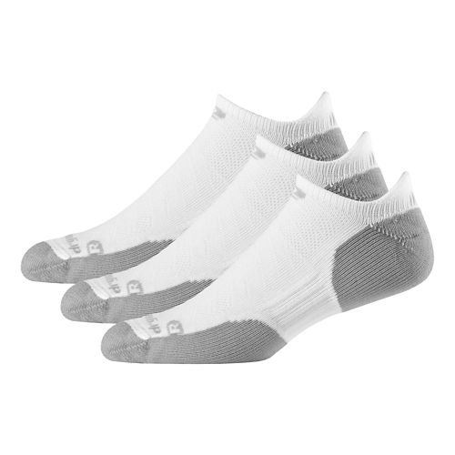 R-Gear Drymax Dry-As-A-Bone Thick Cushion No Show 3 pack Socks - White M
