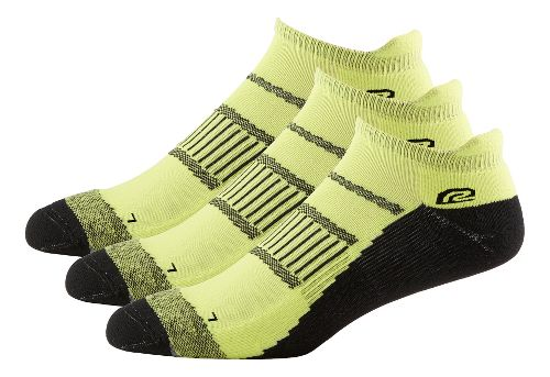 Mens Road Runner Sports Dryroad Simple & Speedy Thin No Show 3 pack Socks - Electrolyte M