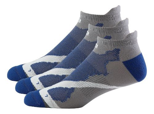 Mens Road Runner Sports Dryroad Simple & Speedy Thin No Show 3 pack Socks - Cinderblock M