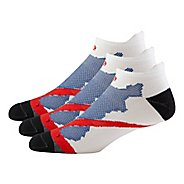 Mens Road Runner Sports Dryroad Simple & Speedy Thin No Show 3 pack Socks